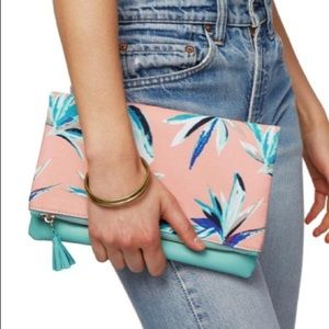 ✨Rachel Palley Paradise Palm Tree Print Clutch